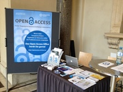 Open Access information desk during OA Week 2013 at University of Vienna