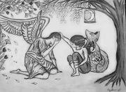 Angel weeps with Hafiz