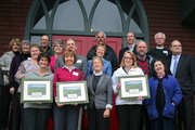 Religious leaders award recipients and attendees