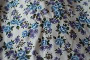 Blue & Violet Barkcloth