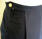 Navy Voile Maxi Skirt