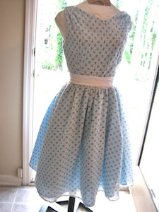 Vintage Style Dress with Underlining