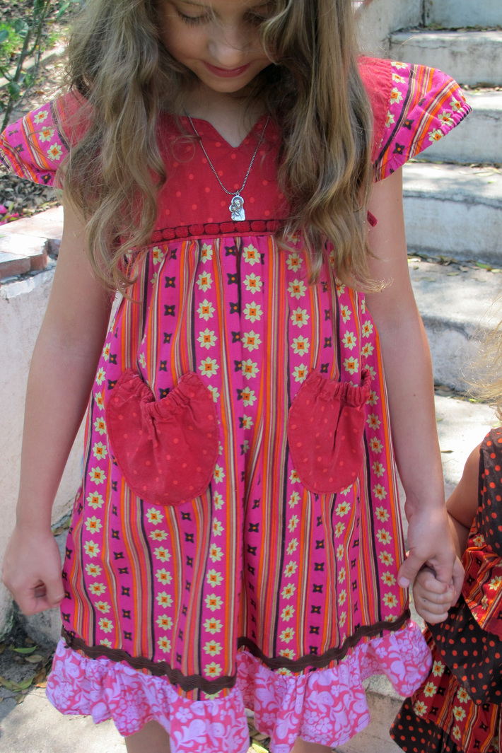 Lily in her  Frida dress