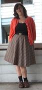 Plaid full circle skirt