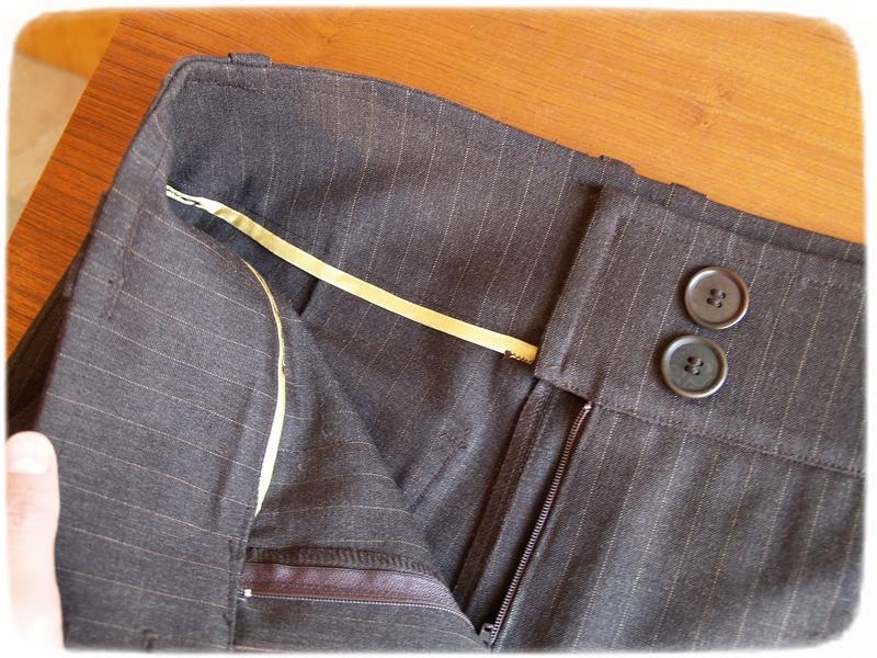 Brown pants details 5