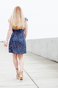Starry Seaside Wrap Dress