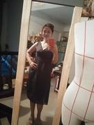 wrap and high waist dress