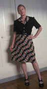 Papunya Pattern Print Dress - 1945 - Created for Sew for Victory
