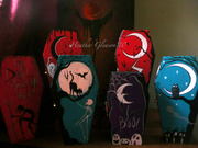 Hand Painted wood Coffin boxes
