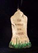 .Tall Faded Tombstone Ornament