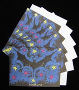 Bat Folk Art- 6pc Blank Note Card Set with EnvelopesFrom ARyerStudio