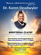 DR KAREN DEADWYLER MINISTERIAL CLASS FLYER 2017