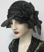Ombre Dyed Sinamay Cloche