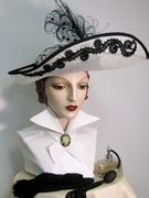 Edwardian Inspired Sinamay with Beadwork