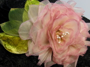 Handmade silk organza cherrylipped rose