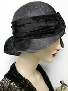 Ombre Dyed Cloche with Silk Bow