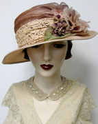 Lady Almina Parasisal Cloche by Orsini~Medici Couture Millinery