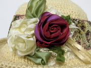 Hand scultped Ribbon Flowers
