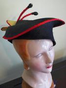 Hand blocked parasisal flower hat