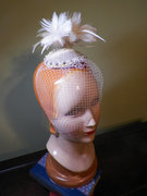 Hand-beaded Bridal Fascinator with Veil