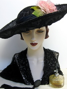 Titanic Era Inspired Lace Hat with Roses