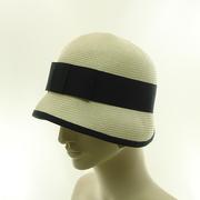 White Straw Cloche Hat
