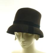 Assymetrical Brown Felt Hat