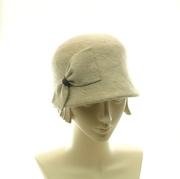 Beaver Fur Felt Cloche Hat, Bucket Hat