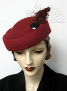1940's French Crushed Beret-Pillbox