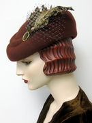 1940's French Sculpted Toque/Terra Cotta