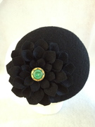 Wool Button Percher with Vintage Button