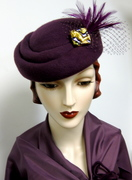 1940's French Sculpted Toque