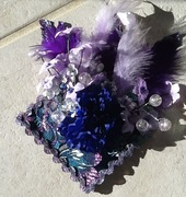 Blue & Purple Christmas Custom Fascinator