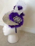 Purple Moonlight Headband Fascinator