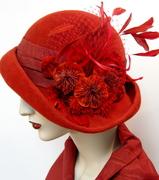 Cardinal Red Cloche