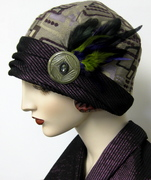 1920's Inspired Abstract Tapestry Cloche