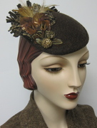 Faux Feather Fascinator