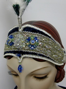 Flapper Headache Band w/ Swarovski Crystal (detail)