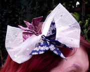 Butterflies and Bows Fascinator