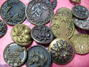New Addition in QuillnAros~lovely Vintage Buttons!