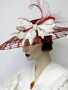 Upcycled Doily Capeline Hat