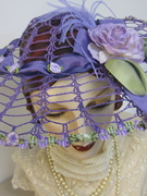 Upcyled Vintage Doilly Hat