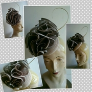 Button Block Headpiece by Victoria Henderson