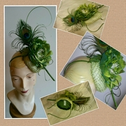 Button Block Headpiece with Silk Bloom