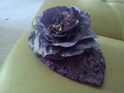 Silk purple flower fascinator.