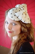 Polka Dot Fascinator by Ruby & Cordelia's Millinery