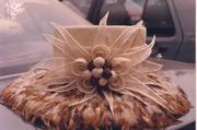 Feathered brim hat