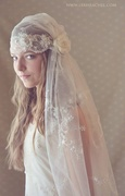 Romantic Downton Abbey Style Juliet Veil by Ruby & Cordelia's Millinery