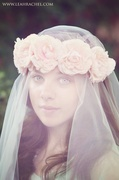 Pale Peach Floral Crown By Ruby & Cordelia's Millinery