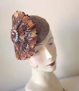 Autumn Inspired Feather Fascinator